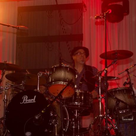 Joe rocks in red