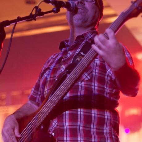 John layin' down the groove